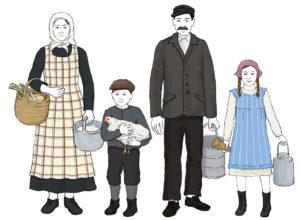 Illustrationer till rekvisita, storformat | Möllegården | Blyerts/Photoshop