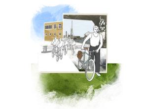 Cykelstad Malmö 1900-1950 | Collage | Photoshop